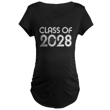 Class of 2028 Grad Maternity Dark T-Shirt