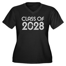 Class of 2028 Grad Women's Plus Size V-Neck Dark T