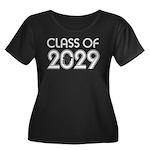Class of 2029 Grad Women's Plus Size Scoop Neck Da