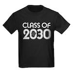 Class of 2030 Grad Kids Dark T-Shirt