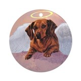 Daschund Angel Ornament (Round)