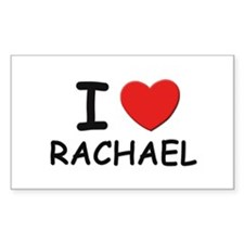 I love Rachael Rectangle Decal