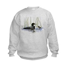 Loon and baby Sweatshirt
