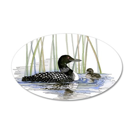 Loon and baby Wall Decal