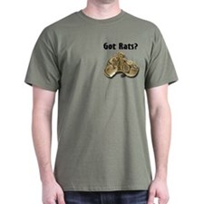 Python2 Got Rats Green T-Shirt (pocket)