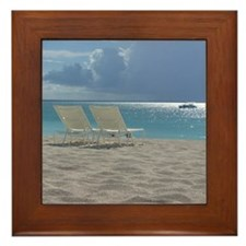 Cute Beach Framed Tile