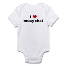 I Love muay thai Infant Bodysuit