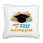 Nursing School 2017 Grad Square Canvas Pillow