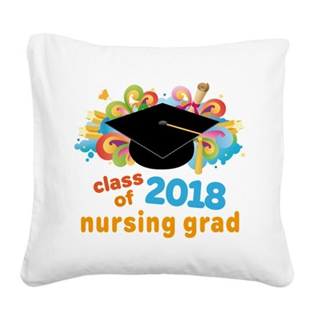 Nursing School 2018 Grad Square Canvas Pillow