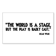 The World Is A Stage Decal