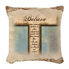 Unique Proverbs 3 Woven Throw Pillow