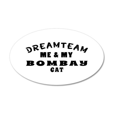 Bombay Cat Designs 35x21 Oval Wall Decal