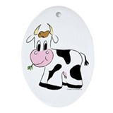 Cara the Cow Oval Ornament