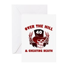 40th Birthday Cheating Death Greeting Cards (Pk of