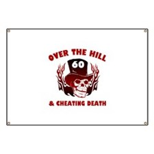 60th Birthday Cheating Death Banner
