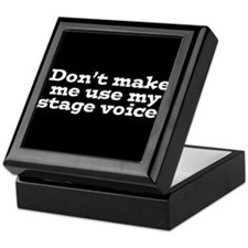 Stage Voice Keepsake Box
