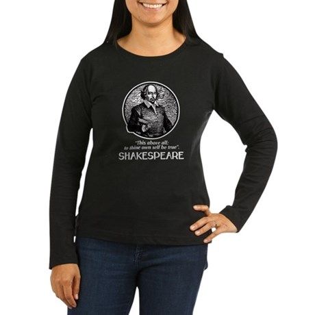 Shakespeare Women's Long Sleeve Dark T-Shirt