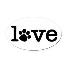 Cute Taza Oval Car Magnet