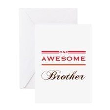 One Awesome Brother Greeting Card