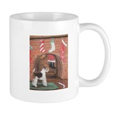 Wire Fox Terrier Christmas Small Mugs