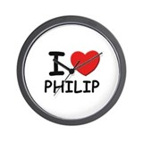 I love Philip Wall Clock