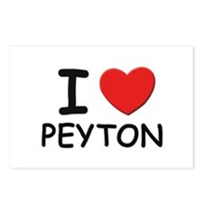 I love Peyton Postcards (Package of 8)