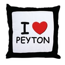 I love Peyton Throw Pillow