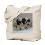 Two Shih Tzu Puppies Tote Bag