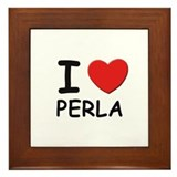 I love Perla Framed Tile