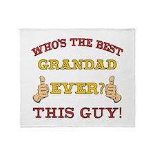 Best Grandad Ever Throw Blanket