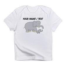 Custom Elephant With Baby Infant T-Shirt