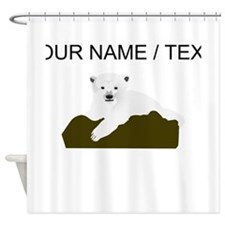 Custom Polar Bear Shower Curtain