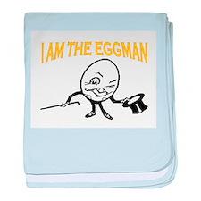 I AM THE EGGMAN baby blanket