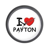 I love Payton Wall Clock