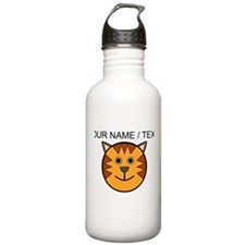 Custom Cartoon Cat Face Water Bottle