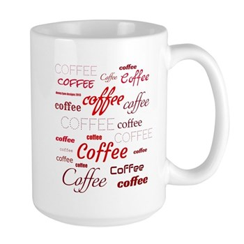 Magic Coffee Fonts Large Mug