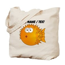Custom Orange Blowfish Tote Bag