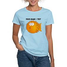 Custom Orange Blowfish T-Shirt