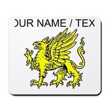 Custom Gold Griffin Statue Mousepad