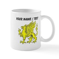Custom Gold Griffin Statue Small Mug