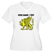 Custom Gold Griffin Statue Plus Size T-Shirt