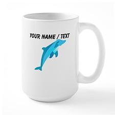 Custom Blue Dolphin Mug