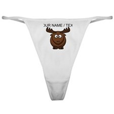 Custom Cartoon Moose Classic Thong