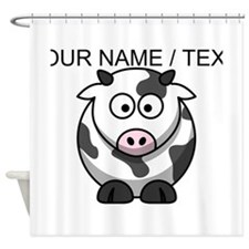 Custom Cartoon Cow Shower Curtain