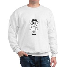Son - stick figure family Sweatshirt