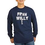 Free Willy Long Sleeve Dark T-Shirt