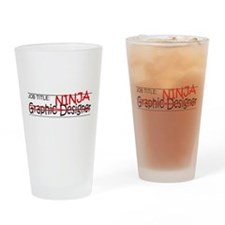 Job Ninja Graphic Designer Drinking Glass