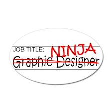 Job Ninja Graphic Designer Wall Decal