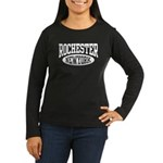 Rochester New York Women's Long Sleeve Dark T-Shir