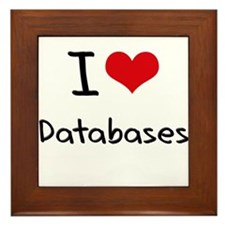 I Love Databases Framed Tile